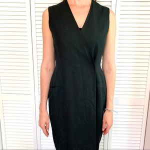 Tahari black wrap dress